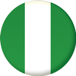 Nigeria Country Flag 25mm Flat Back